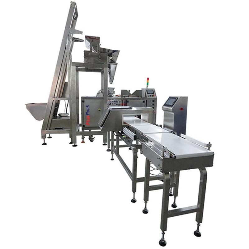 pluspack-maquinas-de-envase-y-embalajeLinea-completa-Envasadora-doypack-pesadora-lineal-y-control-de-peso-y-metales